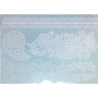 white henna lace temporary tattoo sticker
