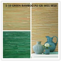 Bamboo Wallcoverings Green Handmade for Interior Decoration