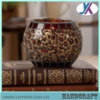 Mosaic hot sale chinese glass candle holder jars