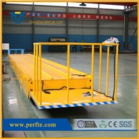 10t Capacity SGS Motorized Transfer Carriage Used in Steel Tube Factory