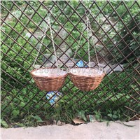 Split willow hanging basket