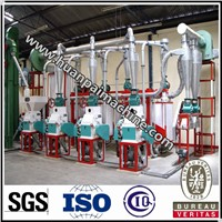 whole set maize processing machine,corn grits processing plant