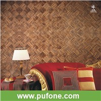 Special design Wood veneer diamond natural wallcpaper