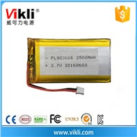 OEM rechargeable 3.7V lithium ion battery 2500mah