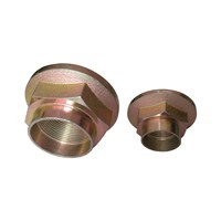 high quality carbon steel DIN hexagon flange nut