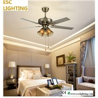 E27 East Style Iron Blade Chandelier celling fan