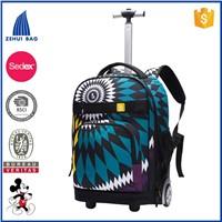2016 waterproof wheeled backpack kids school trolley bag