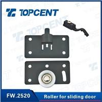 Sliding door system iron and nylon black sliding door roller