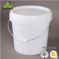 10L plastic pail paint bucket with lid and handle