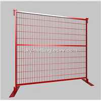 Canada Market Design 6x9.5ft Temporary Metal Fence Colorful PVC Coated Construction Site Fence