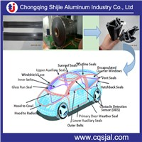 Lacquered / prepainted aluminum strips for Auto TPE PVC PP ABS EPDM Weather stripping