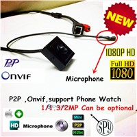 Mini Audio Video Camera Ip 1080P Onvif 2 Megapixel Pinhole IP camera Hidden With Microphone