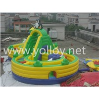 Cheap Commercial Eight Word Inflatable Dry Slide