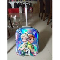 3D carton fashion trolley school bag /trolley luggage bag/travelling luggage bag