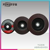 Aluminum Oxide Flap Disc With Plastic Fiber Backing For Polishing