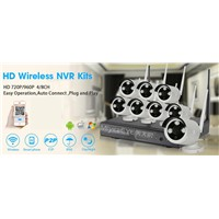 8Ch WiFi NVR IP Security Camera System, IP CCTV System h. 264 Network Digital Video Recorder System, Even Work w/o Network
