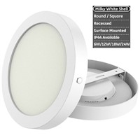 Round Surface Mounted LED Panel Lamp, CE/CCC Certified, 6W 12W 18W 24W