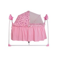Multi-function baby rocking bed swing cradle with mosquito net
