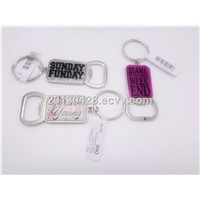 zinc alloy bottle opener keychain