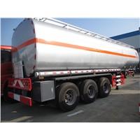 55CBM 3 axles aluminum alloy fuel/gasoline/oil delivery semi-trailer