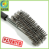 3-in-1 stainless steel wire bbq grill cleaning brush