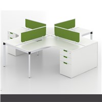 4 seater modular office workstation for open office area with different partitions
