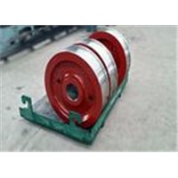 EOT crane applied double flange rail wheel mounted on I-beam