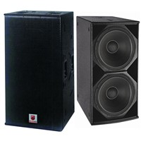 "Dual 18"" Subwoofer Discos Club and Outdoor Shows Professional Loudspeaker"