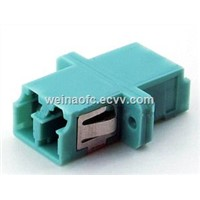 Fiber Adapter LC-LC Duplex OM3 Aqua Housing