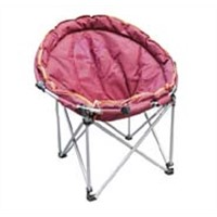 Folding textile NE outdoor chair, comfortable moon chair, luxury camping chair