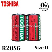 Toshiba MSDS 1.5V Mercury Free R20SG Size D Zinc Carbon Battery for Metering