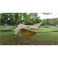 Nylon hammock, camping hammock with canopy, portable hammock with mosquito mesh for outdoor
