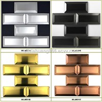 Beveled subway stainless steel tiles
