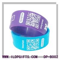 Silicone QR code ID bracelet
