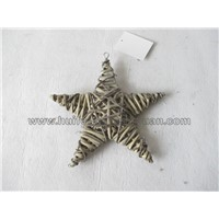 star shape willow wicker decoration ring