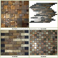 Antique copper and stone mosaics