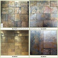 Strip and Subway  Antique copper tiles