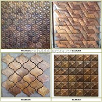 Beveled Arabesque Antique copper tiles