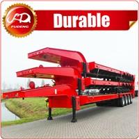 Competitive price 60ton tri axle lowbed semi trailer air suspension for transportbulldozer