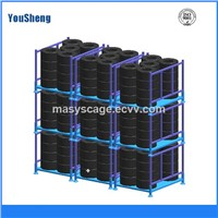 Foldable and Stackable Tyre Warehouse Rack