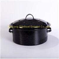 5QT cast iron enamel stock pot