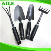 4pcs Small Black Metal Garden Tool Set