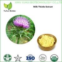 milk thistle extract powder 80 silymarin,silymarin soluble in water,80% silymarin