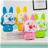 Cartoon Rabbit Promotion Electricity Storage Desk Mini USB Fan for Student Children