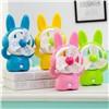 Cartoon rabbit electricity storage desk mini USB fan for student children