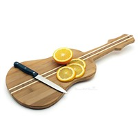 Violin Shape Vegetable Fruit Cutting Board bamboo Chopping Block