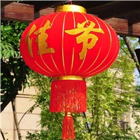 Chinese Manufactuering Red Silk Lantern for Decoration