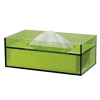 Counter Top Semi-Transparent Blue Tissue Box
