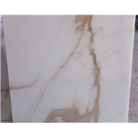 China Manufacturer Elegant 16x16 Calacatta Gold Marble Tile