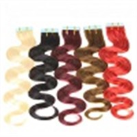 Factory Price Wavy Seamless tape in human remy hair extensions